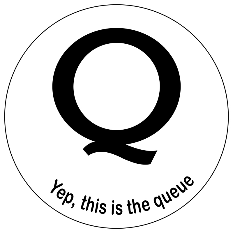 Q Decal black