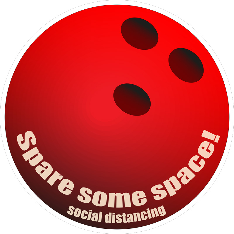 spare some space decal red