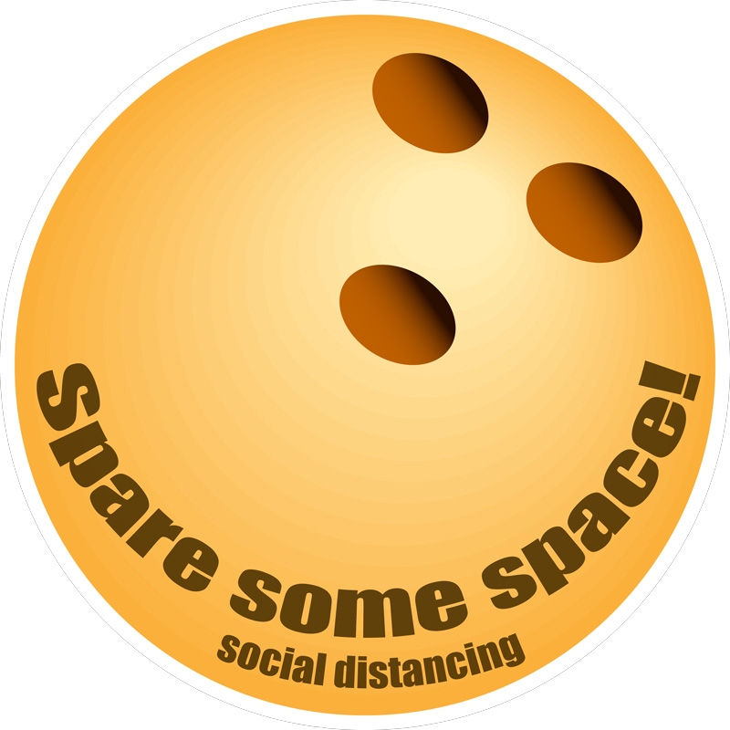 spare some space decal yellow