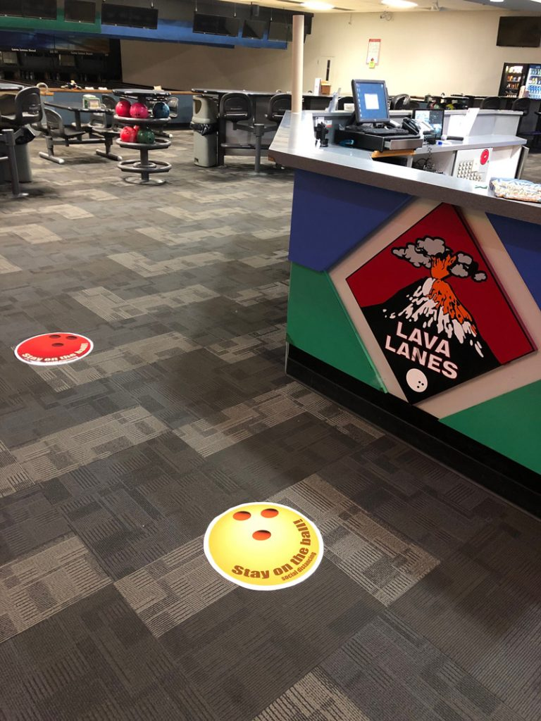 bowling lanes decals