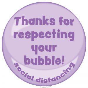 bubble decal purple