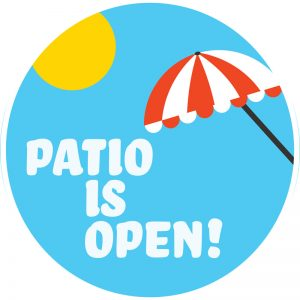 patio is open